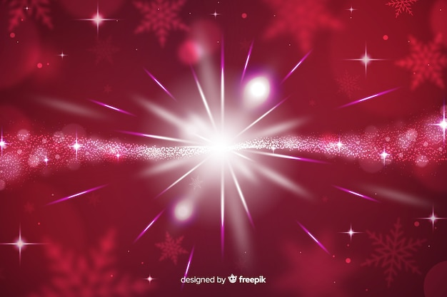Christmas sparkling background and stars Free Vector