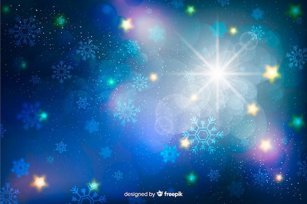 Natale scintillante sfondo Vettore gratuito