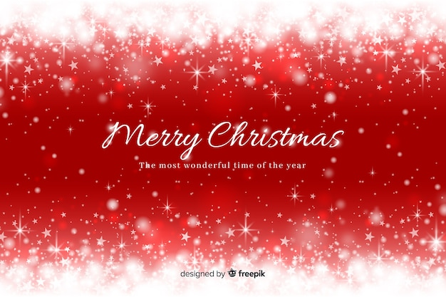 Christmas sparkling background Free Vector