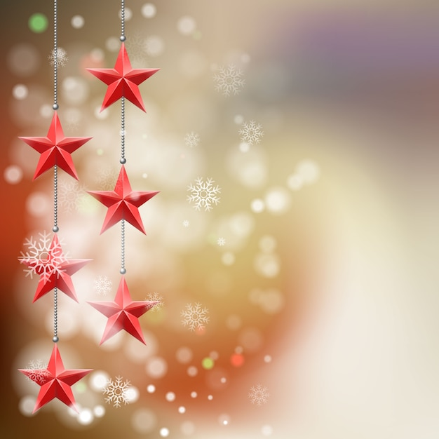 Christmas star background Premium Vector