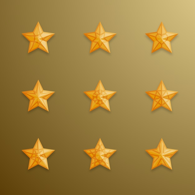 Christmas Star Symbol Gold Color Vector Premium Download