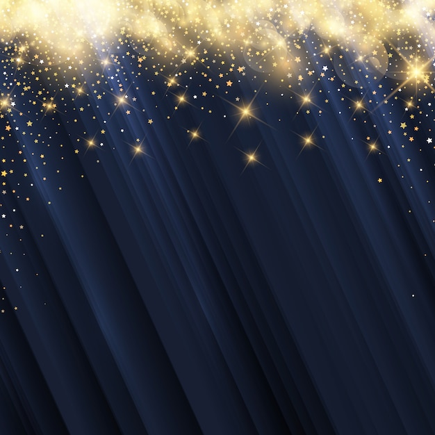 Christmas stars background Free Vector