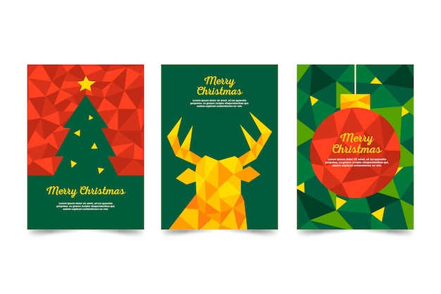 Christmas template in polygonal style Free Vector