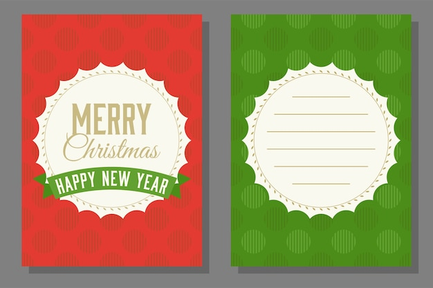 Christmas Theme Poster And Invitation Card Template Vector