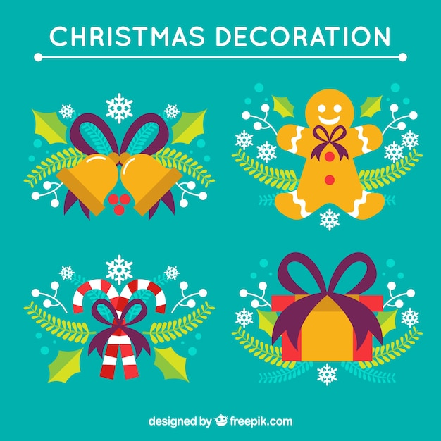 Christmas things decoration vector premium download for Christmas decoration things