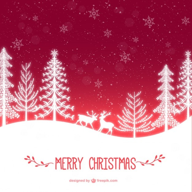 Christmas time card Free Vector