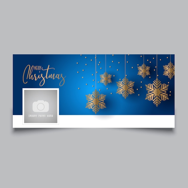 Christmas timeline cover design Free Vector