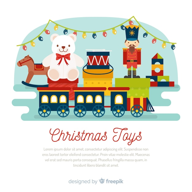 Christmas toy background Free Vector