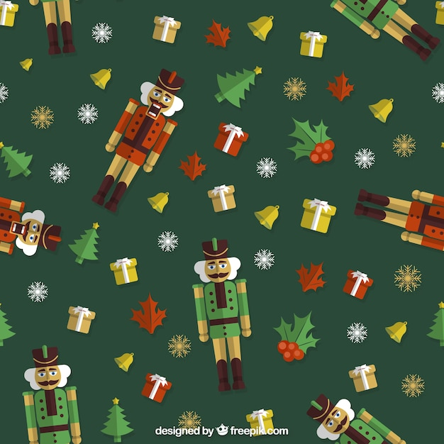 Christmas Toys Background Vector Premium Download