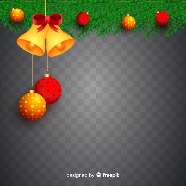 Christmas in transparent background Free Vector