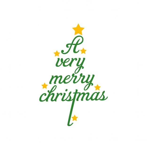 Christmas tree background made with letters Free Vector