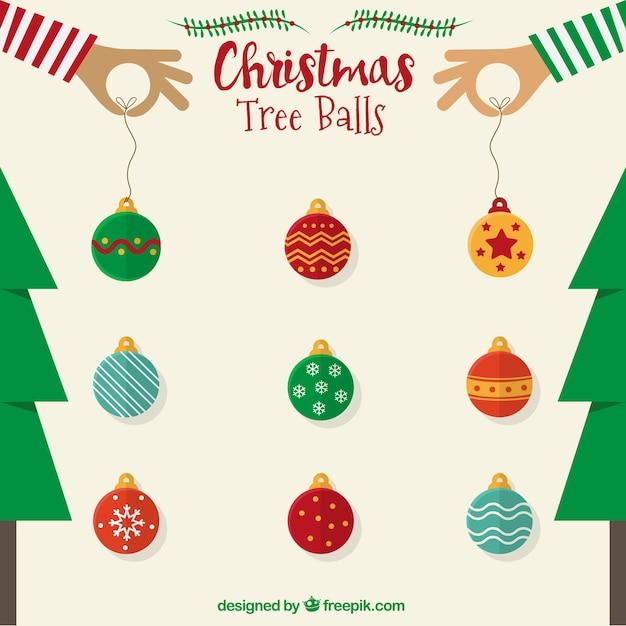 Christmas Tree Ball Placement : Christmas tree balls vector free download