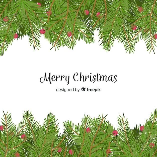 Christmas Branch Vector.Christmas Tree Branches Background Vector Free Download