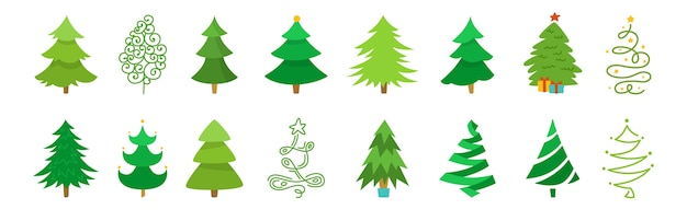 Premium Vector Christmas Tree Cartoon Set Hand Drawing Green Xmas Trees Collection New Year Traditional Design Most relevant best selling latest uploads. https www freepik com profile preagreement getstarted 10230307