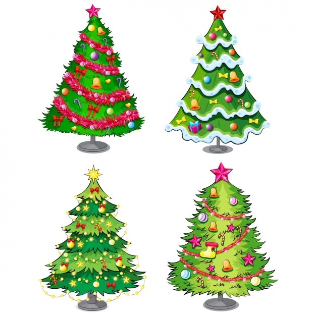Christmas Tree Collection Leichhardt : Christmas tree collection vector premium download