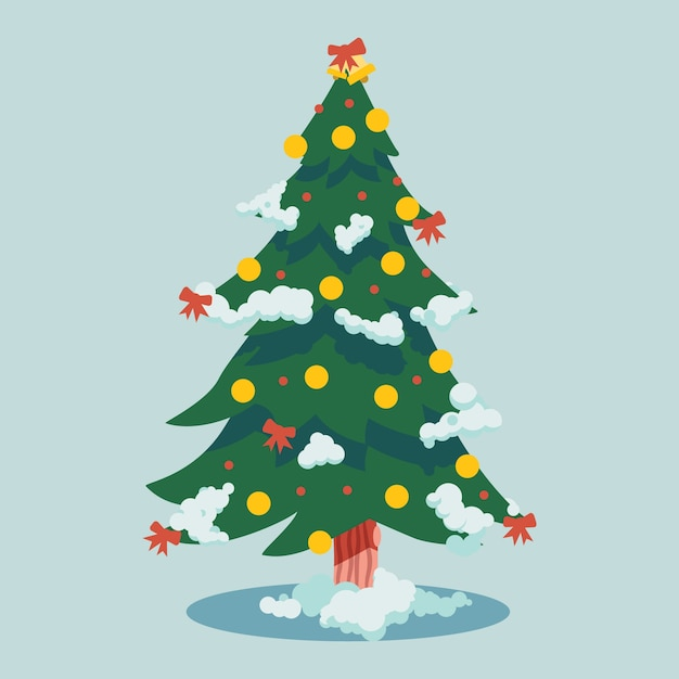 Christmas tree concept in flat design Vector | Free Download