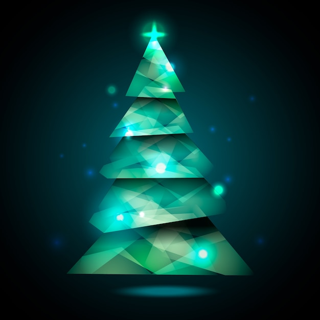 Christmas tree concept with abstract design Free Vector