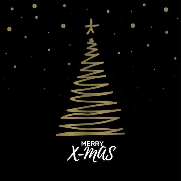 Christmas tree doodle Premium Vector