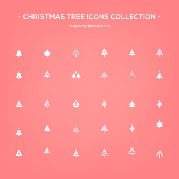 Christmas tree icons Free Vector