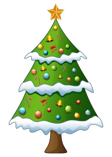 Рождественская елка, изолированных на белом фоне | Премиум векторы