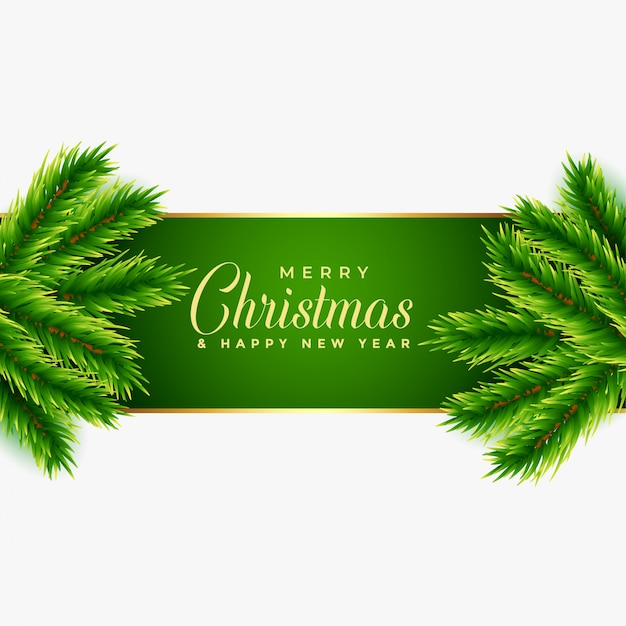 Christmas tree leaves background design Free Vector