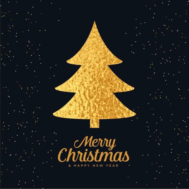 Рождественская елка из золотой фольги Бесплатные векторы