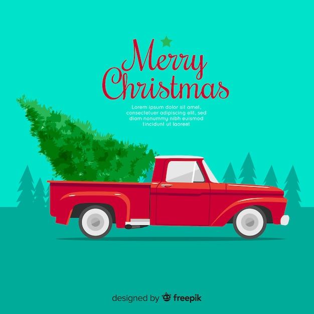 Free Christmas Tree Pick Up: Christmas Tree On Pick-up Truck