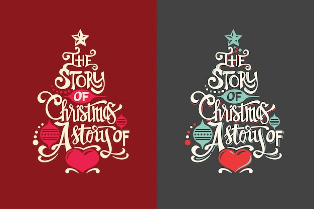 Christmas tree shape with quote and
