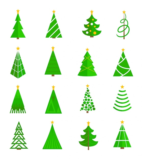 Christmas Tree Collection Leichhardt : Christmas trees collection vector free download