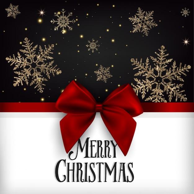 Christmas Vector Greeting Card Premium Vector
