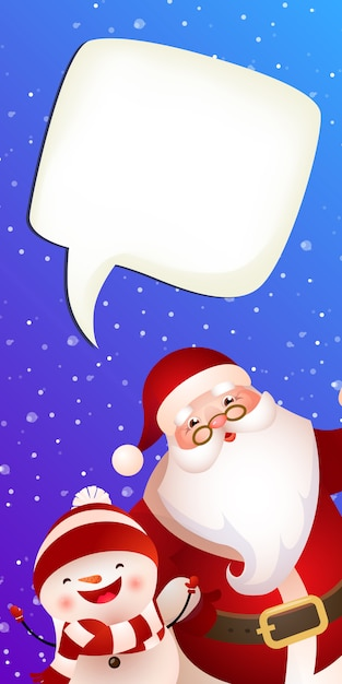 Christmas vertical banner template Free Vector