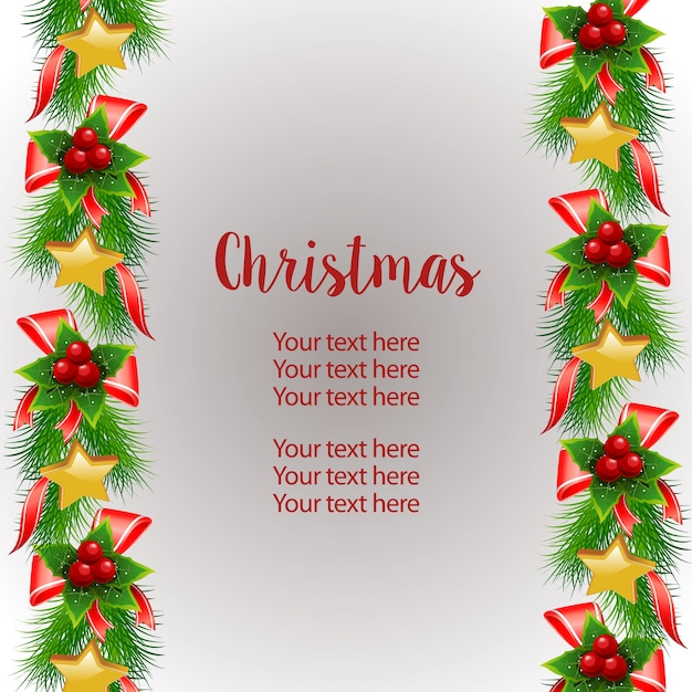 Christmas vertical border template