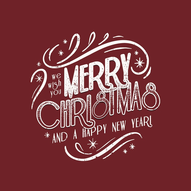 Christmas vintage lettering Free Vector
