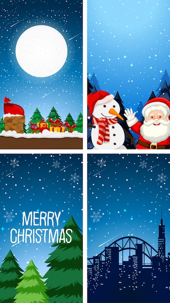 Christmas wallpaper themes Free Vector