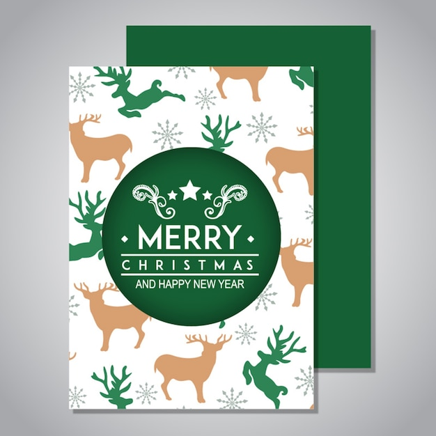Christmas Watercolor Greeting Card