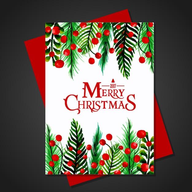 Christmas Watercolor Greeting Card