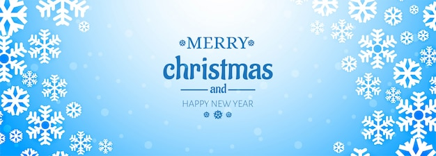 Christmas website banner with decorations snowflakes Free Vector