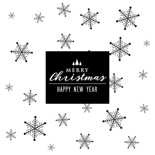 Christmas winters snowflakes pattern decoration background Free Vector