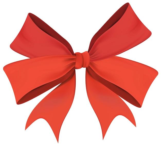 Christmas wreath bow isolated Free Vector