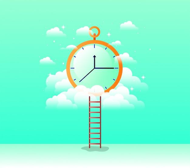 Chronometer timer isolated icon Premium Vector