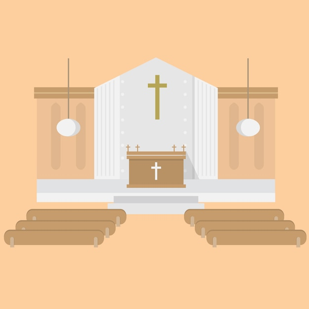 Church background design Free Vector