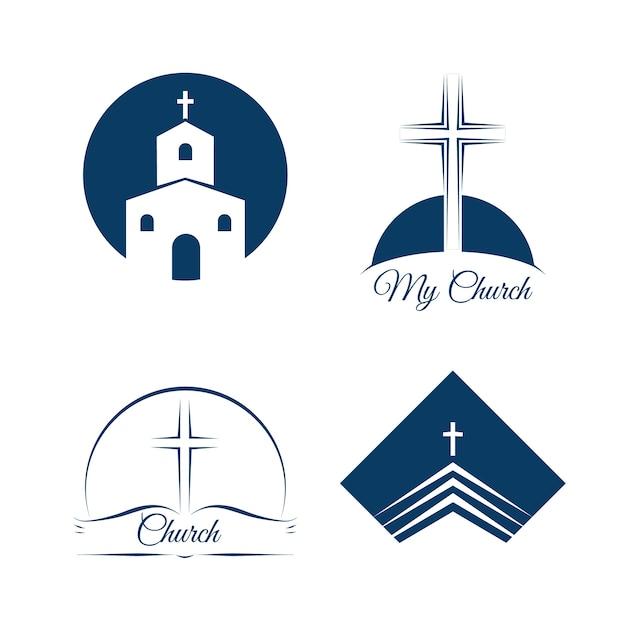 Logo dell'azienda commerciale della chiesa Vettore gratuito