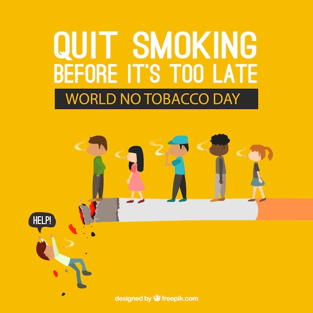Cigarette background with people Free Vector