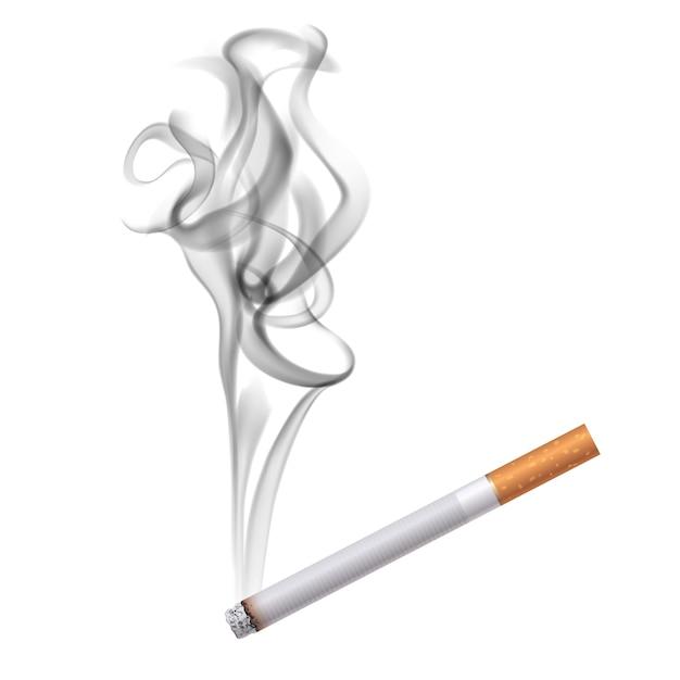 Cigarette dark smoke Free Vector