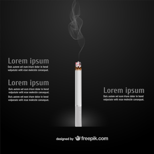 Cigarette infographic Free Vector