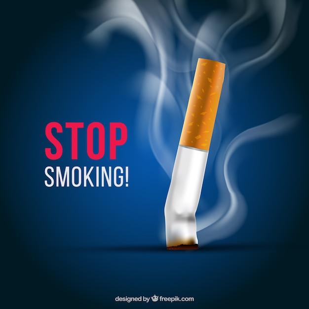 Cigarette off background Free Vector