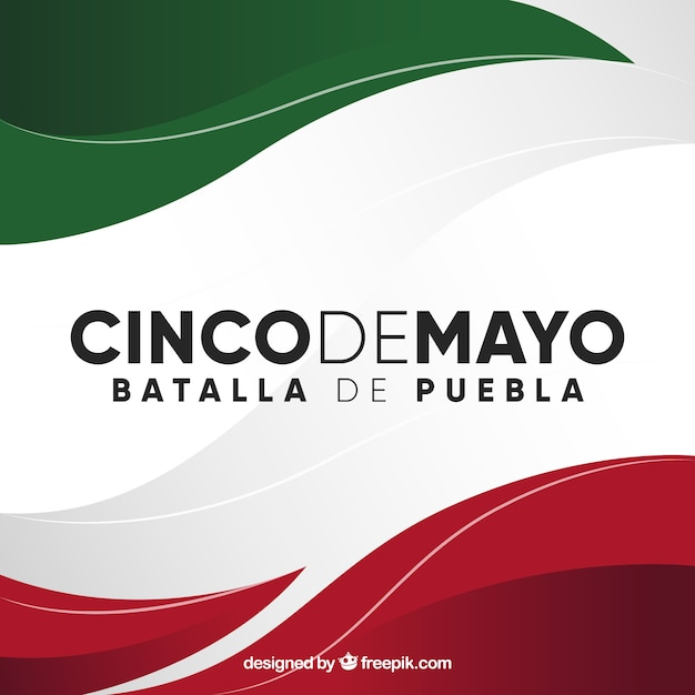Cinco de mayo background with mexican flag Free Vector