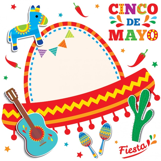Cinco de mayo card Premium Vector