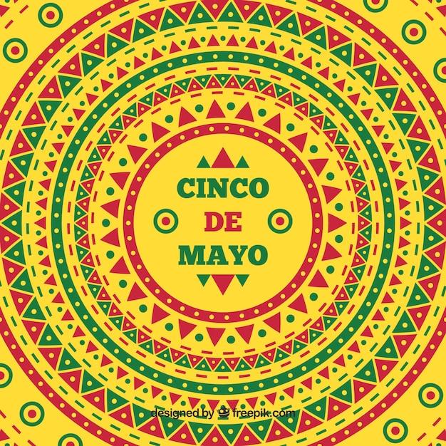 Cinco De Mayo Ethnic Colorful Background Vector | Free ...