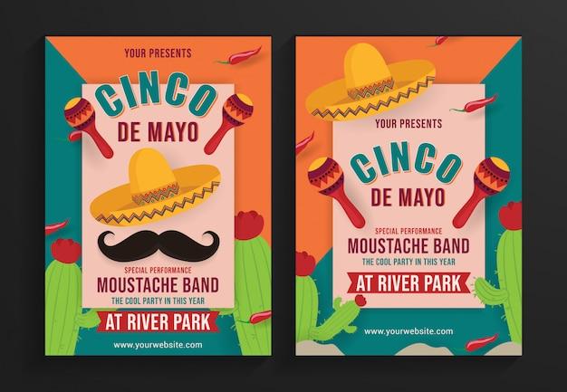 Premium Vector Cinco De Mayo Party Flyer Template